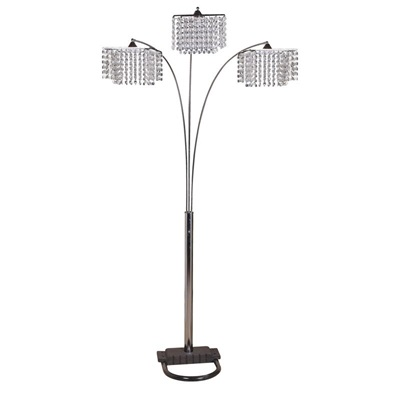 "40052 CHANDELIER FLOOR LAMP, 84""H"