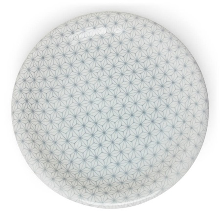 "Asanoha Colors 10"" Plate - Gray"