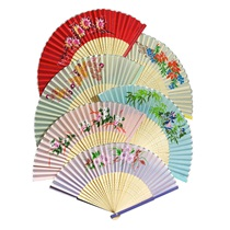 Assorted Silk Fans 12-Pack