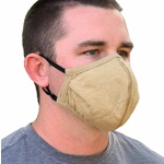 PGI BarriAire Gold Face Mask W/ Adjustable Elastic Ear Straps