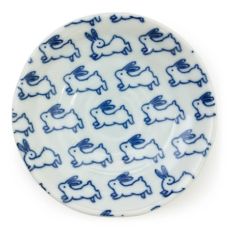 "Blue Rabbit 4"" Sauce Dish"