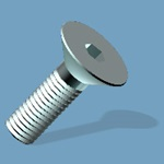"Flat Head Socket Screw, 8-32 X 1/2"", 82 Degree, 18-8 Stainless Steel"