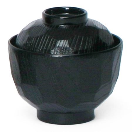 BLACK 8 OZ. SOUP BOWL WITH LID