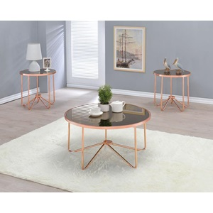 81840 ROSE GOLD COFFEE TABLE