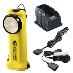 Streamlight Survivor Firefighter's Right Angle Light, Rechargeable - 120 Volt & 12 Volt Charger