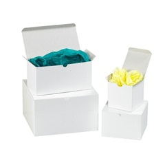 "GB332  3 X 3 X 2"" WHITE GIFT BOXES 100/CS"
