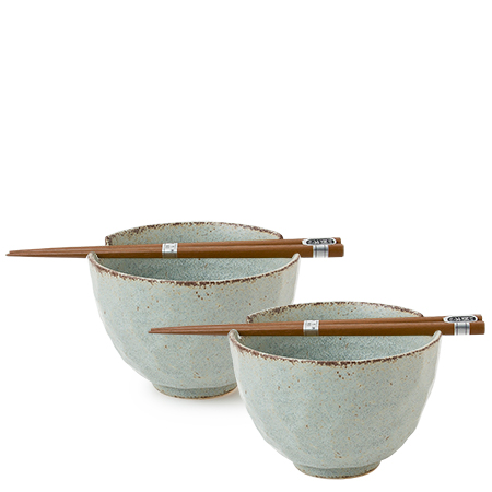 BOULDER GRAY BOWL SET/2