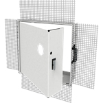 Insulated Fire-Rated Access Door with Plaster Bead Flange, Mortise Lock Prep