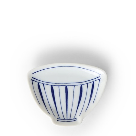 "Mini Plate 3.75"" Blue & White Teacup Stripe"