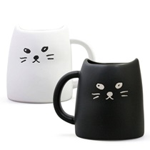 BLACK & WHITE  CAT 10 OZ. MUG SET