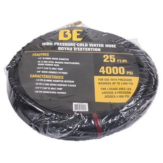 "25ft 4000 PSI 1/4"" Rubber Hose"