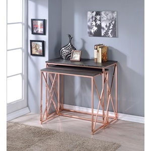 90225 2PC PK NESTING CONSOLE TABLE