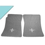 Custom Full-Size Carpet Floor Mats (Aqua)