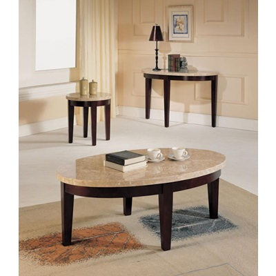 17144B WH MARBLE TOP SOFA TABLE
