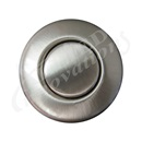 AIR BUTTON TRIM: #15 CLASSIC TOUCH, SATIN NICKEL