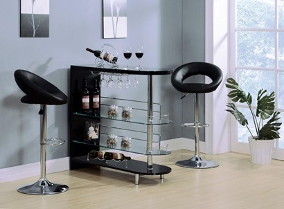 71320 BLACK BAR TABLE