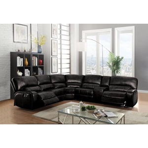54150 SAUL BLACK POWER SEC.SOFA