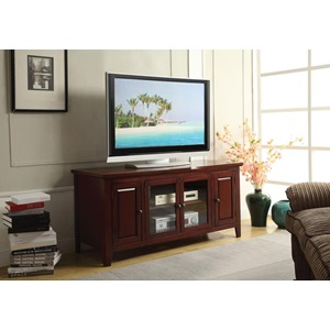 10340 CHERRY FINISH TV STAND