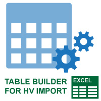 Table Builder for HV Mass Import