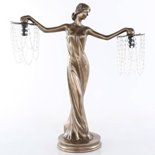 "23.75""H Grecian Goddess Beaded  Table Lamp"