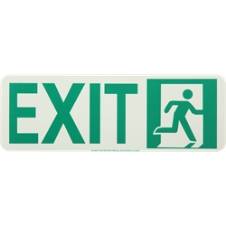 Running Man Exit Sign, Right