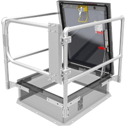 "36"" x 30"" Roof Hatch Safety Railing with Gate"