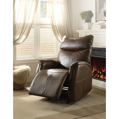 59436 BROWN ROCKER RECLINER