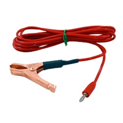 8' red test lead with 46C clip