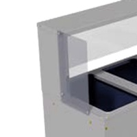 Advance Tabco TSP-1 End Panel for TSS Series Buffet Shelf for One End