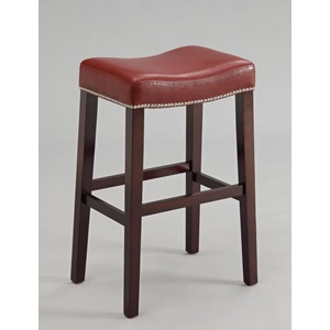 96295 COUNTER HEIGHT STOOL W/RED PU