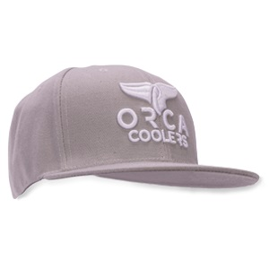 Grey Flat Bill Trucker Hat