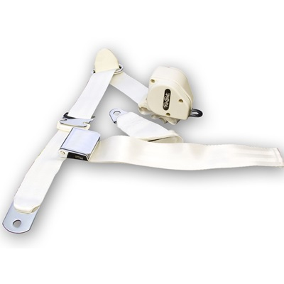 1964.5-73 Mustang 3-Point Seat Belt-White