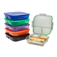 MYGO CONTAINER™ LARGE, 3-COMPARTMENT REUSABLE TO-GO CONTAINER