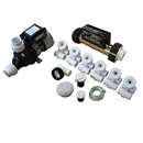 PUMP / PLUMBING JETTED TUB ASSEMBLY KIT: SLIMLINE WHITE WITH .75HP PUMP AND IN.LINE HEATER