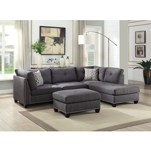 54385 LAURISSA CHARCOAL RF SEC.SOFA