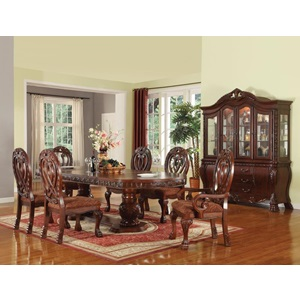 60265-KIT QUINLAN PEDESTAL DINING TABLE