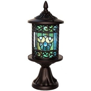 "17.75""H Outdoor Tiffany Style Lantern"