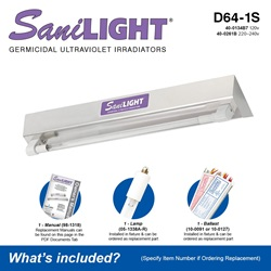 SaniLIGHT D64-1S Included Accessories