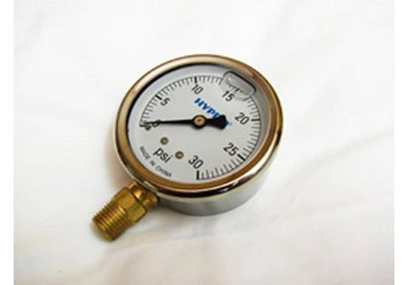 0-30 PSI Glycerin Filled Gauge