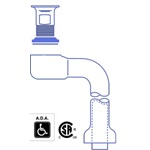 PW155WCSAN: 1-1/4 Lavatory Offset and Sink Strainer Assembly SANIGUARD®