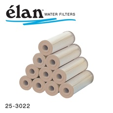 élan™ Filters: 1 Micron Pleated Cartridges with Tan End (Case of 24)
