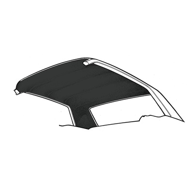 66-70 1/2 Falcon Headliner (Black)