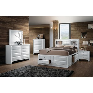 21696EK IRELAND WHITE EASTERN KING BED