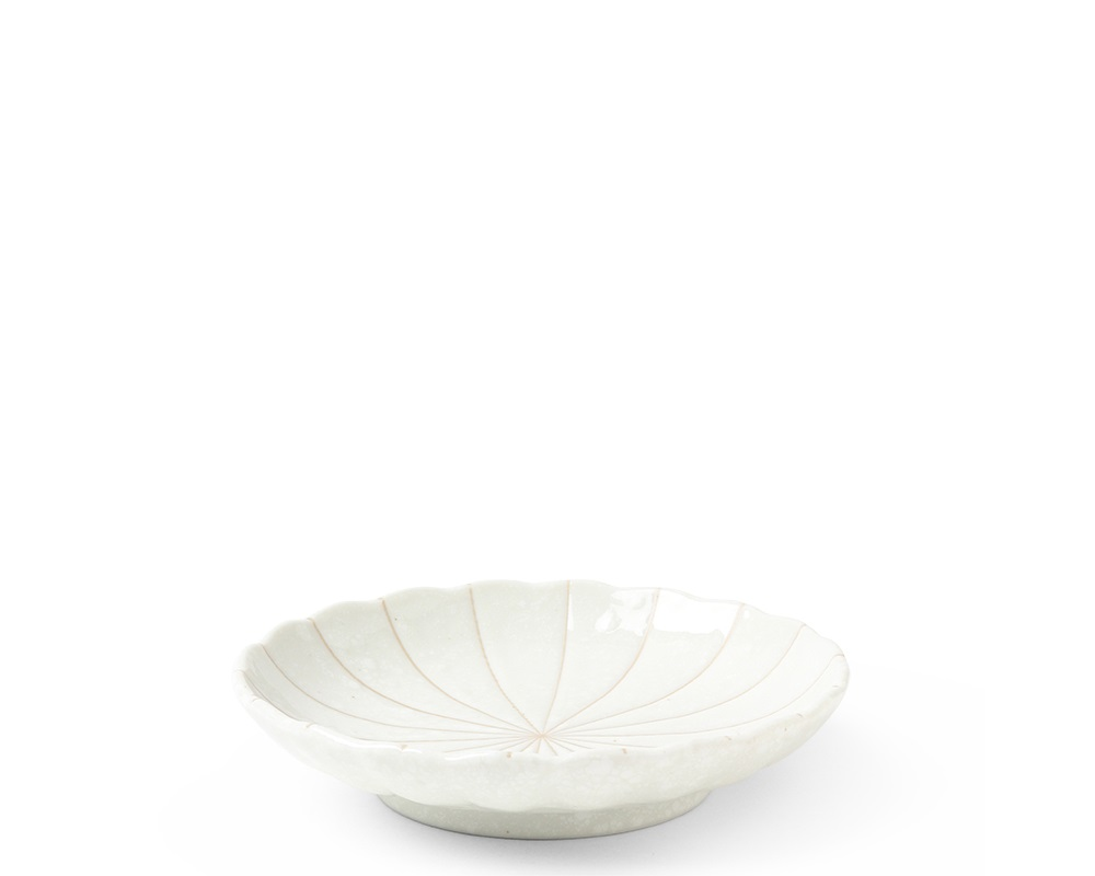 "Kasa Lines White 5.5"" Plate"