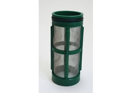 "Side 1 - 2 1/2"" 100 Mesh Screen Strainer Basket - Green"