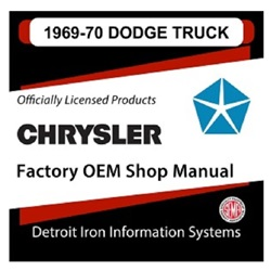 1969-1970 Dodge Truck Factory Shop Manual, CD