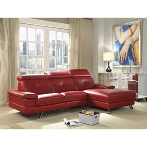52040 AERYN RED PU SECTIONAL SOFA