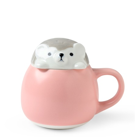 Mug with Lid Hedgehog