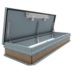 "30"" x 96"" Personnel Roof Hatch, Ship Stair Access, Steel"