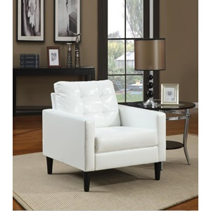 59048 WHITE PU ACCENT CHAIR